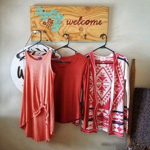 BUNDLE!! Coral Fashion Tops